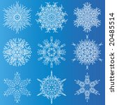set of elegant snowflakes for... | Shutterstock .eps vector #20485514