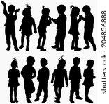 happy children   Shutterstock .eps vector #204856888
