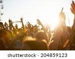 audience at outdoor music... | Shutterstock . vector #204859123