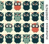 Cute Colorful Vector With Owls...