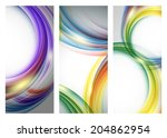 abstract vector backgrounds set ... | Shutterstock .eps vector #204862954