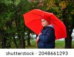 Boy In A Jacket In An Autumn...