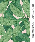 Banana Leaf Vector Illustration