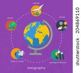 geography infographics elements....