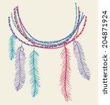 Feather Boho Neckline