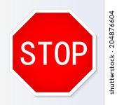 stop sign vector illustration | Shutterstock .eps vector #204876604