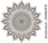 mandala. round ornament pattern.... | Shutterstock . vector #204882979
