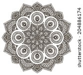 mandala. round ornament pattern.... | Shutterstock . vector #204886174