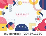 background with flat geometric... | Shutterstock .eps vector #2048911190