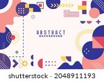 background with flat geometric... | Shutterstock .eps vector #2048911193