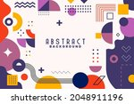 background with flat geometric... | Shutterstock .eps vector #2048911196