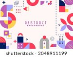 background with flat geometric... | Shutterstock .eps vector #2048911199