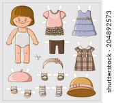 Dress Up Cute Paper Doll With...