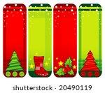 christmas banners vector... | Shutterstock .eps vector #20490119