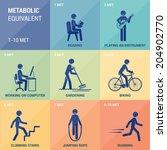 metabolic equivalent | Shutterstock .eps vector #204902770