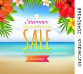 summer sale card  with gradient ... | Shutterstock .eps vector #204904168
