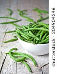 Green String Beans In A Bowl On ...