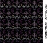 romantic pattern. valentines... | Shutterstock .eps vector #204907903