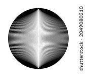 lines in unusual form . sphere... | Shutterstock .eps vector #2049080210