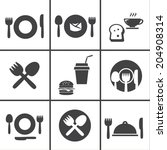 food center  food court fork... | Shutterstock .eps vector #204908314