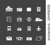 travel and vacation icons | Shutterstock .eps vector #204908350