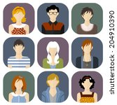 girls and boys icons set in... | Shutterstock .eps vector #204910390