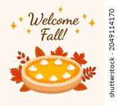 welcome fall vector concept....   Shutterstock .eps vector #2049114170