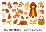 set of fall forest stickers ...   Shutterstock .eps vector #2049114290
