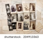 old letters and antique family... | Shutterstock . vector #204913363