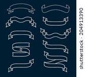 vector set of ribbons | Shutterstock .eps vector #204913390