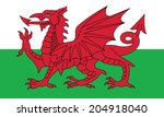 flag of wales. vector. accurate ... | Shutterstock .eps vector #204918040