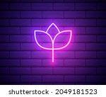 flower pink glowing neon ui ux...