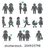 women and men family figures... | Shutterstock . vector #204925798