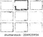 set of grunge frames  | Shutterstock .eps vector #204925954