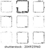 grunge squares. vector... | Shutterstock .eps vector #204925960
