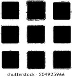 grunge squares. vector... | Shutterstock .eps vector #204925966