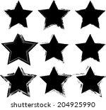 grunge stars  | Shutterstock .eps vector #204925990