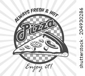 pizzeria advertising fresh hot... | Shutterstock . vector #204930286