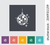 disco ball. single flat icon on ... | Shutterstock .eps vector #204931159