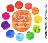 Watercolor Vector Circles. ...