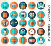 modern flat vector shopping... | Shutterstock .eps vector #204932809