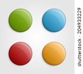 colorful buttons design... | Shutterstock .eps vector #204933229