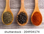 spice spoon | Shutterstock . vector #204934174