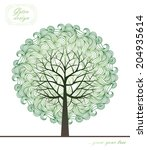 green tree with handmade... | Shutterstock .eps vector #204935614