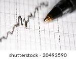 stock photo  black pen on... | Shutterstock . vector #20493590