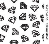 diamonds  seamless pattern ...   Shutterstock .eps vector #204937246