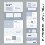 website design template. modern ...