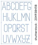 light thin font type with nodes ... | Shutterstock . vector #204938458