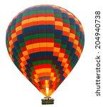 hot air striped balloon... | Shutterstock . vector #204940738