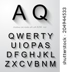 classic alphabet with modern...